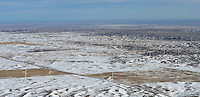 Wind towers northeastern Colorado. Feb 2014
