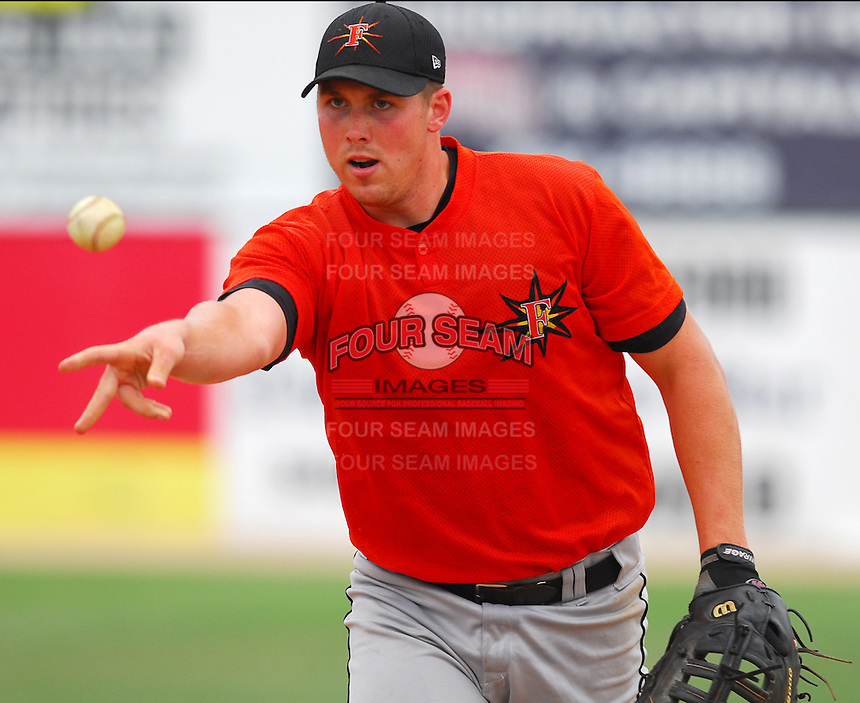 25 June 2007: Mark Fleisher of the Frederick Keys, Class A affiliate of the Baltimore Orioles, vs. the Potomac Nationals, a Washington Nationals affiliate, at Pfitzner Stadium, Woodbridge, Va.  Photo by:  Tom Priddy/Four Seam Images