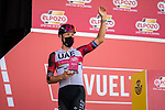 Matteo Trentin (ITA) UAE Team Emirates most aggressive rider from yesterday's stage at sign on before the start of Stage 11 of La Vuelta d'Espana 2021, running 133.6km from Antequera to Valdepeñas de Jaén, Spain. 25th August 2021.     <br /> Picture: Cxcling | Cyclefile<br /> <br /> All photos usage must carry mandatory copyright credit (© Cyclefile | Cxcling)