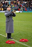 Photo: Richard Lane/Richard Lane Photography. London Wasps v Bath Rugby. LV=Cup. 14/11/2010. RAF bugler.