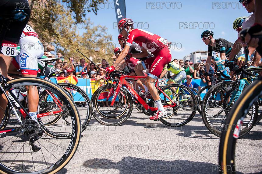 Castellon, SPAIN - SEPTEMBER 7: Sven Erik Bystrøm during LA Vuelta 2016 on September 7, 2016 in Castellon, Spain