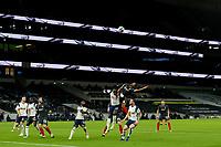 5th January 2021; Tottenham Hotspur Stadium, London, England; English Football League Cup Football, Carabao Cup, Tottenham Hotspur versus Brentford; Ethan Pinnock of Brentford competes for a header with Moussa Sissoko of Tottenham Hotspur