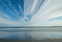 Bering Sea / Norton Sound from the beach in Nome, Alaska. Photo by James R. Evans