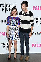"""LOS ANGELES, CA, USA - MAY 05: Aubrey Plaza, Blake Lee at the Los Angeles Premiere Of Tribeca Film's """"Palo Alto"""" held at the Directors Guild of America on May 5, 2014 in Los Angeles, California, United States. (Photo by Celebrity Monitor)"""