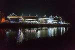 Leicester City 0 Manchester City 0, 29/12/2015. King Power Stadium, Premier League. The King Power Stadium Leicester, reflected in the River Soar, before the goalless draw between Leicester City and Manchester City. Photo by Paul Thompson.