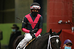 February 6, 2021: Seven Nation Army (2) with jockey Ramon Vazquez aboard before the running of the King Cotton Stakes at Oaklawn Racing Casino Resort in Hot Springs, Arkansas on February 6, 2021. Justin Manning/Eclipse Sportswire/CSM
