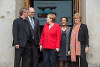 """Veranstaltung """"50 Jahre Entwicklungshelfer-Gesetz – 'Die Welt im Gepaeck'"""" am Freitag den 12. Juli 2019 in der Berliner St. Elisabethkirche.<br /> Als Gast war die Bundeskanzlerin Angela Merkel geladen.<br /> Den Ehrentag fuer zurueckgekehrte Entwicklungshilfe-Fachkraefte veranstalten die Gemeinsame Konferenz Kirche und Entwicklung (GKKE) und die Arbeitsgemeinschaft der Entwicklungsdienste (AGdD).<br /> Im Bild vlnr: Praelat Karl Juesten; Praelat Martin Dutzmann, GKKE; Bundeskanzlerin Angela Merkel; Judith Ohene AGdD; Cornelia Fuellkrug-Weitzel, Praesidentin Brot fuer die Welt.<br /> 12.7.2019, Berlin<br /> Copyright: Christian-Ditsch.de<br /> [Inhaltsveraendernde Manipulation des Fotos nur nach ausdruecklicher Genehmigung des Fotografen. Vereinbarungen ueber Abtretung von Persoenlichkeitsrechten/Model Release der abgebildeten Person/Personen liegen nicht vor. NO MODEL RELEASE! Nur fuer Redaktionelle Zwecke. Don't publish without copyright Christian-Ditsch.de, Veroeffentlichung nur mit Fotografennennung, sowie gegen Honorar, MwSt. und Beleg. Konto: I N G - D i B a, IBAN DE58500105175400192269, BIC INGDDEFFXXX, Kontakt: post@christian-ditsch.de<br /> Bei der Bearbeitung der Dateiinformationen darf die Urheberkennzeichnung in den EXIF- und  IPTC-Daten nicht entfernt werden, diese sind in digitalen Medien nach §95c UrhG rechtlich geschuetzt. Der Urhebervermerk wird gemaess §13 UrhG verlangt.]"""