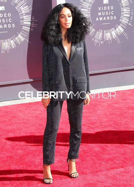 LOS ANGELES, CA, USA - AUGUST 24: Solange Knowles at the 2014 MTV Video Music Awards held at The Forum on August 24, 2014 in the Los Angeles, California, United States. (Photo by Xavier Collin/Celebrity Monitor)