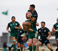 4th June 2021; Galway Sportsgrounds, Galway, Connacht, Ireland; Rainbow Cup Rugby, Connacht versus Ospreys; Peter Sullivan catches the ball for Connacht
