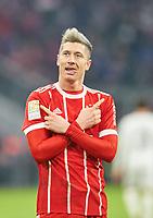 Robert LEWANDOWSKI, FCB 9 <br /> FC BAYERN MUENCHEN - HANNOVER 96 3-1<br /> Football 1. Bundesliga , Muenchen,02.12.2017, 14. match day,  2017/2018, <br />  *** Local Caption *** © pixathlon<br /> Contact: +49-40-22 63 02 60 , info@pixathlon.de
