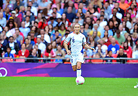 August 06, 2012..France's Sonia Bompastor #8 during Semi Final match at the Wembley Stadium on day ten in Wembley, England. Japan defeats France 2-1 to reach Women's Finals of the 2012 London Olympics.
