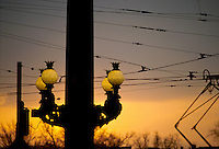 - Prague, lamp-post....- Praga, lampioni