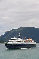 Alaska marine ferry MV/Matanuska in Lynn Canal, near Auke Bay, Southeast Alaska