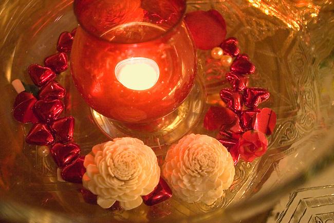 Flower Offering, Kazan Restaurant, Belgrovia, London, Great Britain, Europe