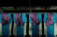 Pettorine Europa League , Harnesses<br /> Napoli 15-02-2018 Stadio San Paolo<br /> Football Calcio UEFA Europa League 2017/2018<br /> Napoli - Leipzig / Napoli - Lipsia<br /> Sedicesimi finale andata, Round of 32 1st leg<br /> Foto Cesare Purini / Insidefoto