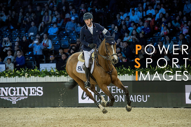 Daniel Deusser of Germany riding Equita van T Zorgvliet during the Hong Kong Jockey Club Trophy competition, part of the Longines Masters of Hong Kong on 10 February 2017 at the Asia World Expo in Hong Kong, China. Photo by Victor Fraile / Power Sport Images