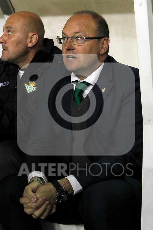 Betis' coach Pepe Mel during La Liga match.March 17,2012. (ALTERPHOTOS/Acero)