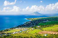 View from Brimstone Hill Fortress, St. Kitts, Caribbean.