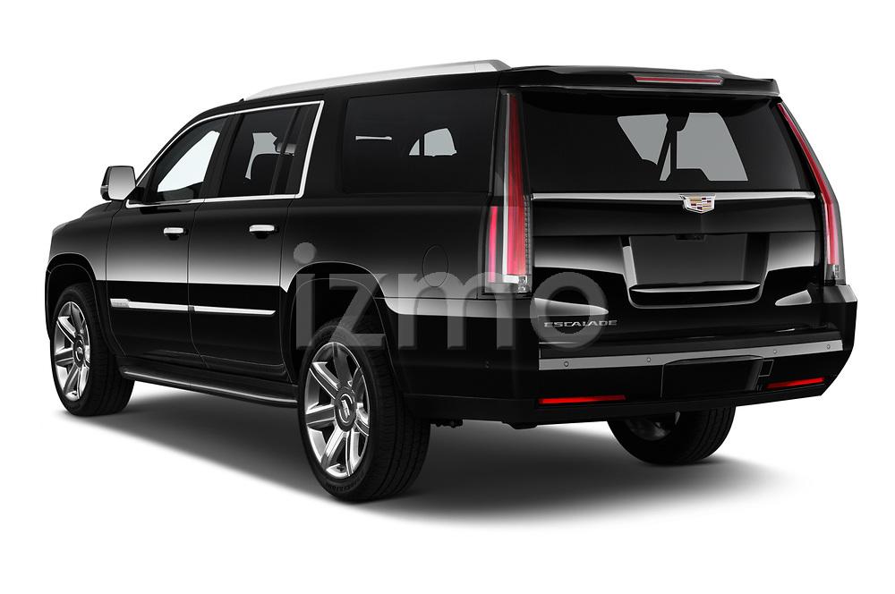 Car pictures of rear three quarter view of 2020 Cadillac Escalade-ESV Premium-Luxury 5 Door SUV Angular Rear