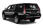 Car pictures of rear three quarter view of 2020 Cadillac Escalade-ESV Premium-Luxury 5 Door SUV Angular Rear