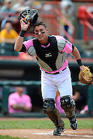 Erie Seawolves catcher James McCann #27 during a game against the New Hampshire Fisher Cats on June 9, 2013 at Jerry Uht Park in Erie, Pennsylvania.  New Hampshire defeated Erie 3-2.  (Mike Janes/Four Seam Images)