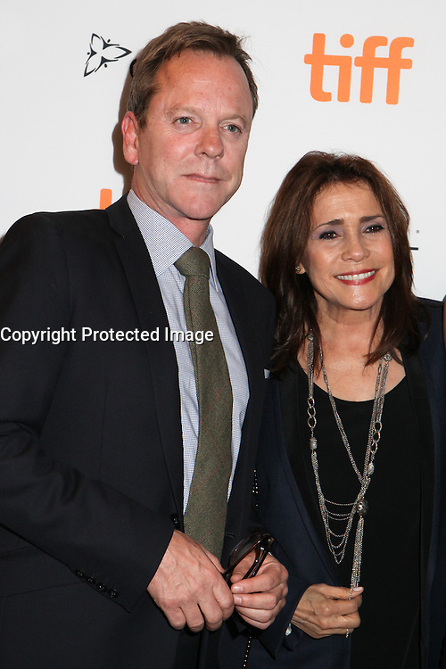 KIEFER SUTHERLAND WITH HIS EX-WIFE CAMELIA KATH - RED CARPET OF THE FILM 'THE TERRY KATH EXPERIENCE' - 41ST TORONTO INTERNATIONAL FILM FESTIVAL 2016 . 15/09/2016. # FESTIVAL INTERNATIONAL DU FILM DE TORONTO 2016