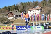 SPEED SKATING: COLLALBO: Arena Ritten, 11-01-2019, ISU European Speed Skating Championships, training, Patrick Roest (NED), ©photo Martin de Jong