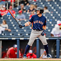 27 February 2019: Houston Astros outfielder Seth Beer in action against the Washington Nationals at the Ballpark of the Palm Beaches in West Palm Beach, Florida. The Nationals defeated the Astros 14-8 in their Spring Training Grapefruit League matchup. Mandatory Credit: Ed Wolfstein Photo *** RAW (NEF) Image File Available ***