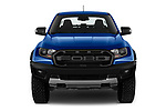 Car photography straight front view of a 2019 Ford Ranger-Raptor - 4 Door Pick-up Front View