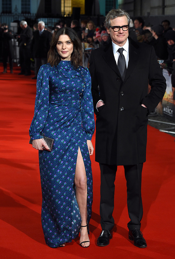 "Rachel Weisz and Colin Firth<br /> arriving for the premiere of ""The Mercy"" at the Curzon Mayfair, London<br /> <br /> <br /> ©Ash Knotek  D3375  06/02/2018"