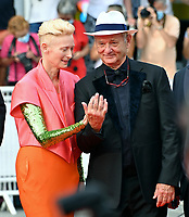 CANNES, FRANCE. July 12, 2021: Tilda Swinton & Bill Murray at the gala premiere of Wes Anderson's The French Despatch at the 74th Festival de Cannes.<br /> Picture: Paul Smith / Featureflash