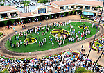 July 20, 2011.Fans in the paddock area on opening day at the Del Mar Thoroughbred Club, Del Mar, CA