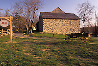 AJ3241, Brandywine River Valley, Pennsylvania, A old stone house at Chadds Ford Historical Society in Chadds Ford in the Brandywine Valley in the state of Pennsylvania.