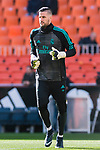 Goalkeeper Francisco Casilla Cortes, K Casilla, of Real Madrid reacts during the training prior to the La Liga 2017-18 match between Valencia CF and Real Madrid at Estadio de Mestalla  on 27 January 2018 in Valencia, Spain. Photo by Maria Jose Segovia Carmona / Power Sport Images