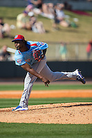 Tennessee Smokies starting pitcher Ivan Pineyro (37) in action against the Birmingham Barons at Regions Field on May 3, 2015 in Birmingham, Alabama.  The Smokies defeated the Barons 3-0.  (Brian Westerholt/Four Seam Images)