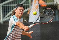 Rotterdam, Netherlands, August 22, 2017, Rotterdam Open, Tim van der Horst (NED)<br /> Photo: Tennisimages/Henk Koster