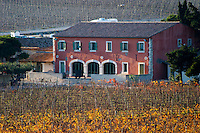 La Clape. Languedoc. Domaine Gerard Bertrand, Chateau l'Hospitalet. The vineyard. France. Europe.