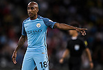 Manchester City midfielder Fabian Delph reacts during the match against Borussia Dortmund at the 2016 International Champions Cup China match at the Shenzhen Stadium on 28 July 2016 in Shenzhen, China. Photo by Victor Fraile / Power Sport Images