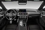 Stock photo of straight dashboard view of 2022 Genesis G70 - 4 Door Sedan Dashboard