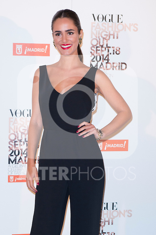 """Alicia Sanz attends the """"VOGUE FASHION NIGHT OUT"""" Photocall at Jose Ortega y Gaset street in Madrid, Spain. September 18, 2014. (ALTERPHOTOS/Carlos Dafonte)"""