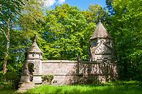 Erb-Begräbnisstätte der Grafen von Arnim-Boitzenburg, Boitzenburger Land, Uckermark, Brandenburg, Deutschland