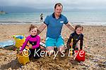 Enjoying Fenit beach on Sunday, l to r: Hazel, Eamon and Hannah Dempsey from Abbeydorney.