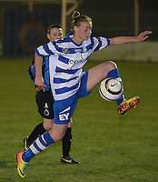 20140326 - AALTER , BELGIUM : Gent's Margaux Van Ackere pictured during the soccer match between the women teams of Club Brugge Vrouwen  and AA Gent  Ladies , on the 21th matchday of the BeNeleague competition Friday 14 March 2014 in Aalter. PHOTO DAVID CATRY