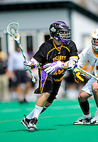 10 April 2011: University at Albany Great Dane midfielder Rocky Bonitatibus, a Junior from Yorktown Heights, NY, in action against the University of Vermont Catamounts on Moulton Winder Field in Burlington, Vermont. The Catamounts defeated the visiting Danes 11-6 in America East play. Mandatory Credit: Ed Wolfstein Photo