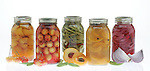 An assortment of different pickled fruits. Portfolio only