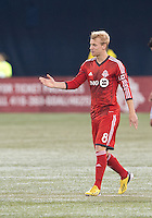 09 March 2013: Toronto FC midfielder Kyle Bekker #8 in action during an MLS game between Sporting Kansas City and Toronto FC at The Rogers Centre in Toronto, Ontario Canada..Toronto FC won 2-1.
