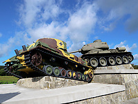 Panzerdenkmal bei Svidnik, Presovsky kraj, Slowakei, Europa<br /> munument of tank near Svidnik, Presovsky kraj, Slovakia, Europe