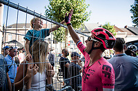 Sebastian Langeveld (NED/EF Education - Nippo) finding his family at the finish after 7 consecutive days of racing<br /> <br /> 17thBenelux Tour 2021 (2.UWT)<br /> (Final) Stage 7: from Namur to Geraardsbergen (178km)<br /> <br /> ©kramon