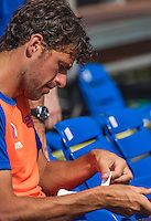 Moscow, Russia, 13 th July, 2016, Tennis,  Davis Cup Russia-Netherlands, Training Dutch team, Robin Haase (NED)<br /> Photo: Henk Koster/tennisimages.com