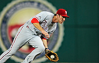 27 September 2010: Philadelphia Phillies' second baseman Chase Utley in action against the Washington Nationals at Nationals Park in Washington, DC. Mandatory Credit: Ed Wolfstein Photo